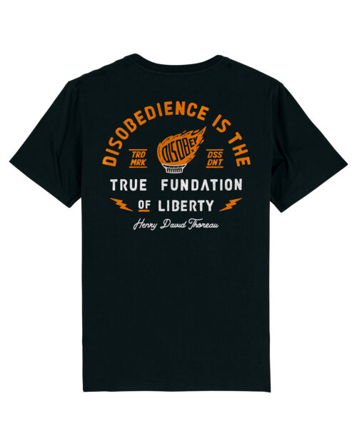 Camiseta Disobey Torch of Liberty Dissident Co Back