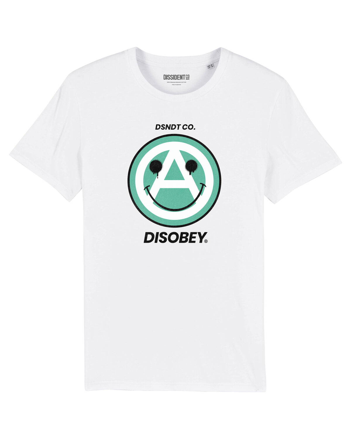 Camiseta Smile it's Anarchism Disobey Dissident Co