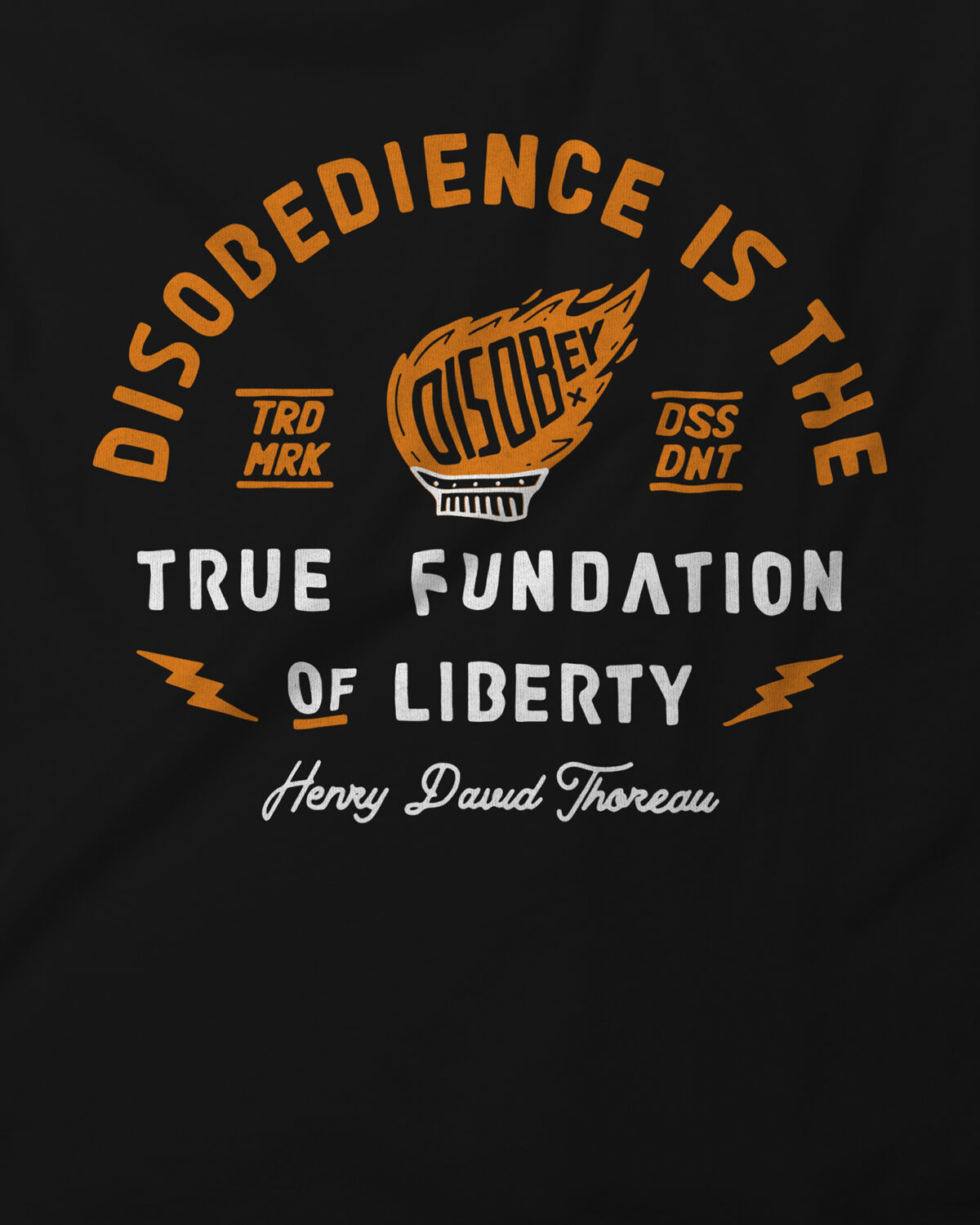 Zoom Camiseta Disobey Torch of Liberty Dissident Co Back