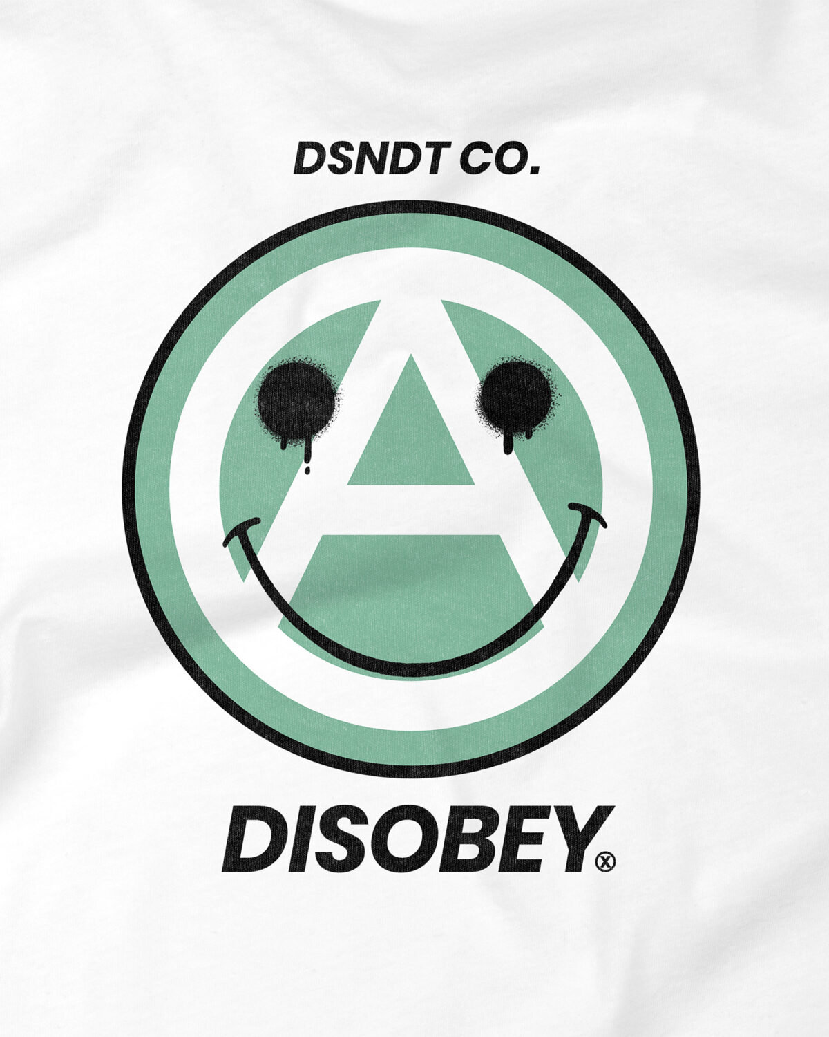 Zoom Camiseta Smile it's Anarchism Disobey Dissident Co