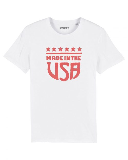 made in the usa white t-shirt dissident co